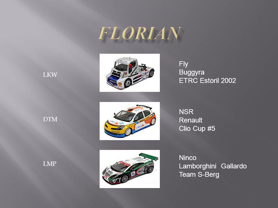 LKW DTM LMP Fly Buggyra ETRC Estoril 2002 NSR Renault Clio Cup #5 Ninco Lamborghini Gallardo Team S-Berg