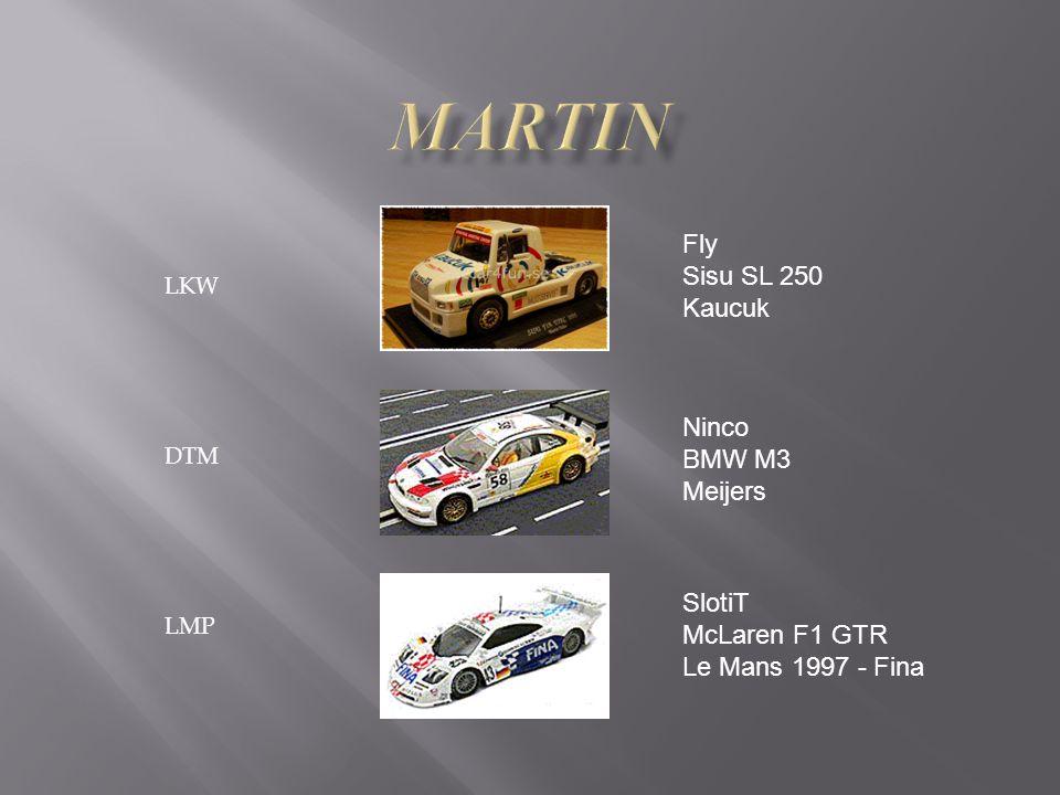 LKW DTM LMP Fly Sisu SL 250 Kaucuk Ninco BMW M3 Meijers SlotiT McLaren F1 GTR Le Mans 1997 - Fina