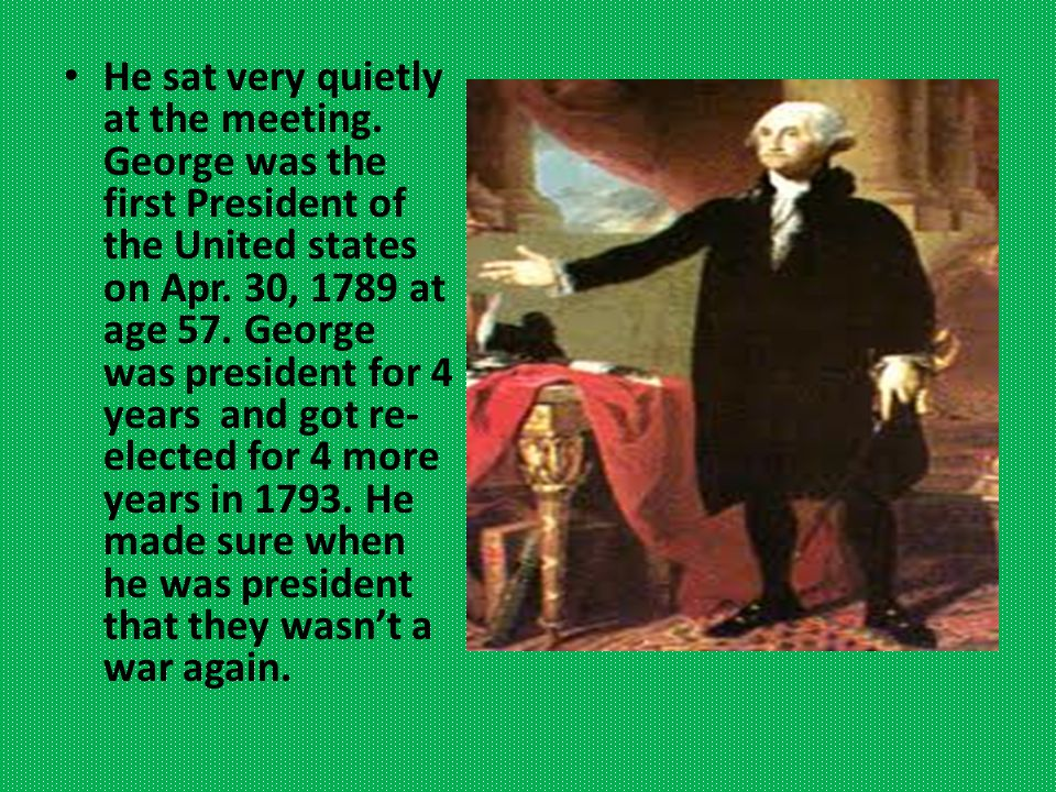 He arrived at Mount Vernon on Christmas Eve. George was in the army for 8 years in a row.