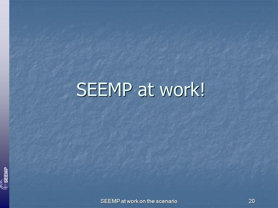 SEEMP at work on the scenario20 SEEMP at work!