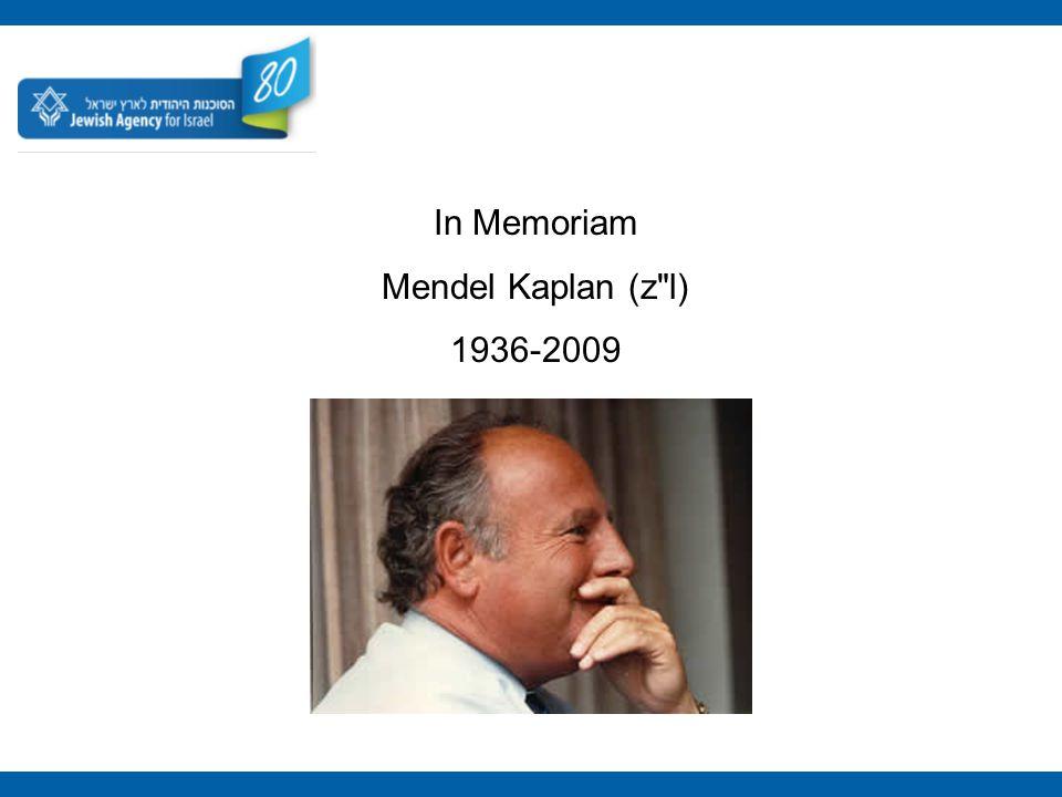 In Memoriam Mendel Kaplan (z l) 1936-2009