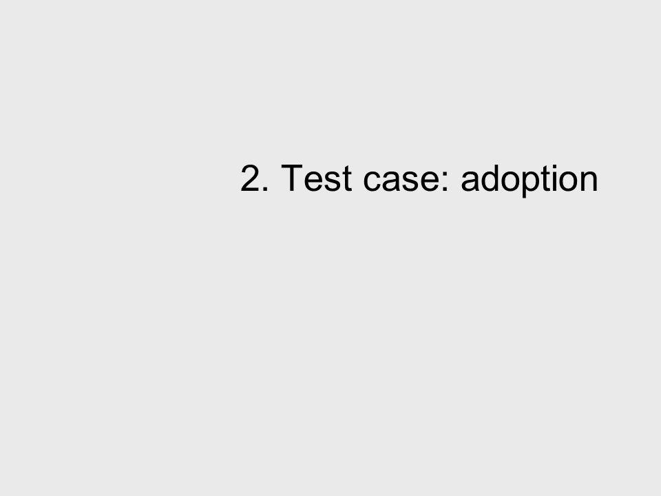2. Test case: adoption