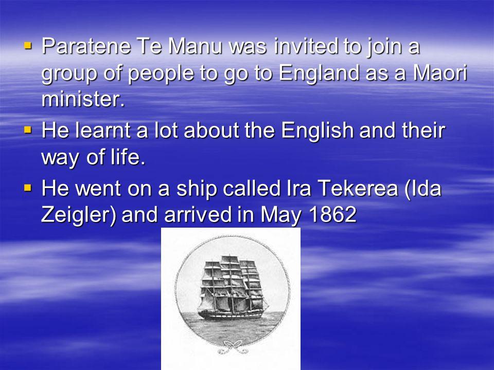 Paratene Te Manu died in Ngunguru in 1896.That's 114 years ago, 26 years after the school began.