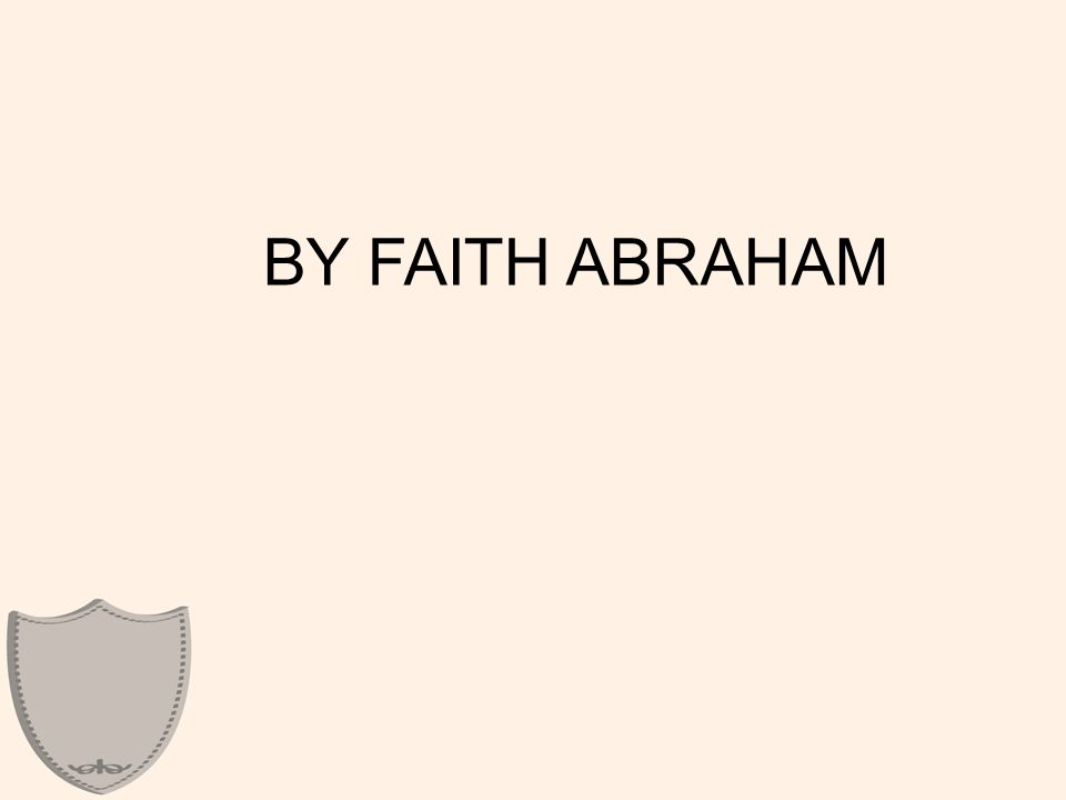 Abraham's faith caused him to grasp the bigger picture- that God's will was larger than his small life.