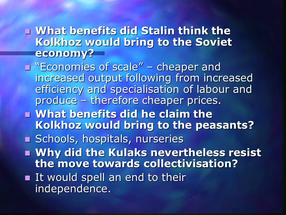 What was the essential difference between the 'Kolkhoz' and the 'Sovkhoz'.