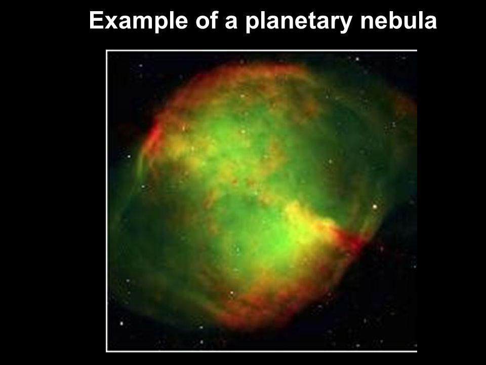 Example of a planetary nebula