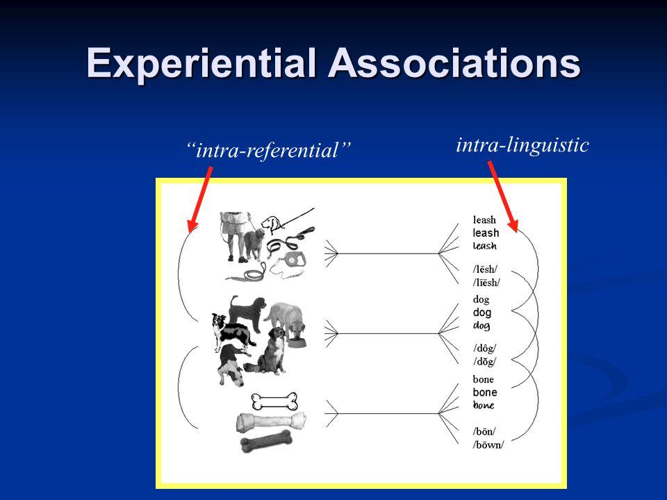 Experiential Associations cross-domain