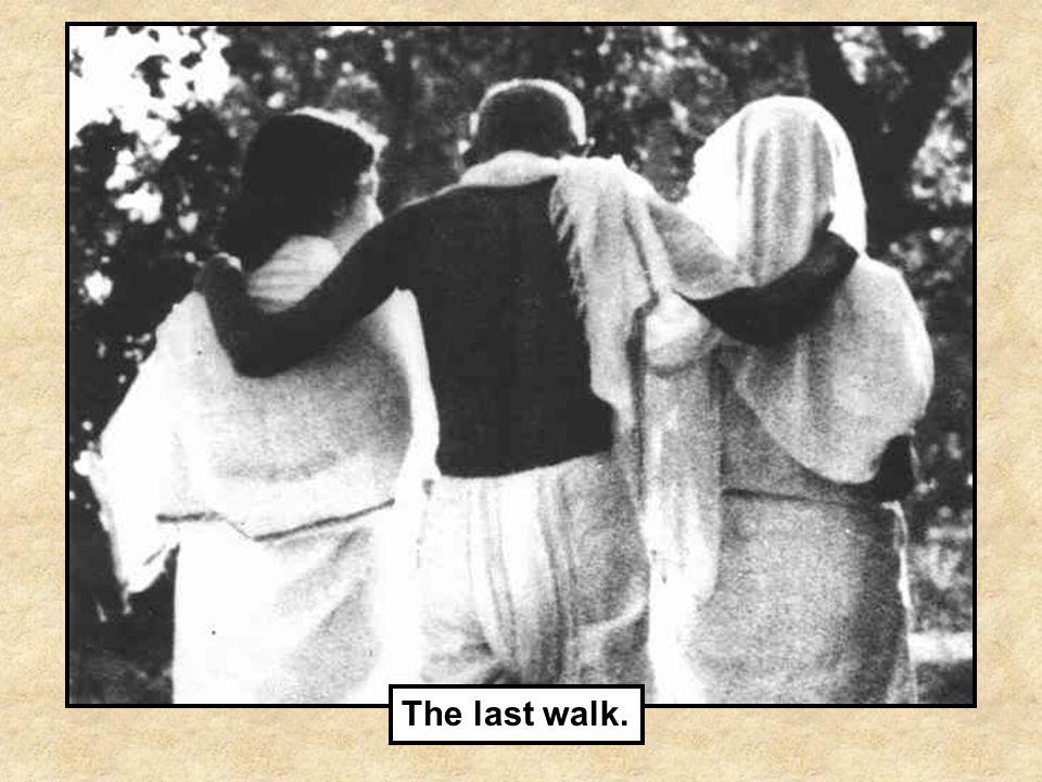 The last walk.
