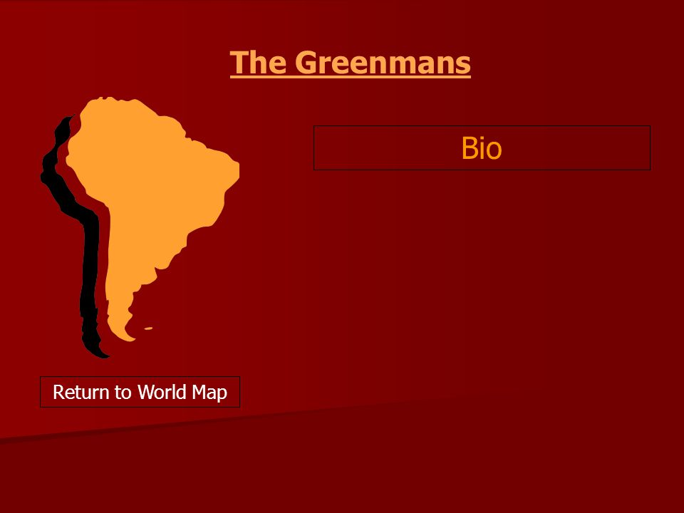 The Greenmans Bio Return to World Map