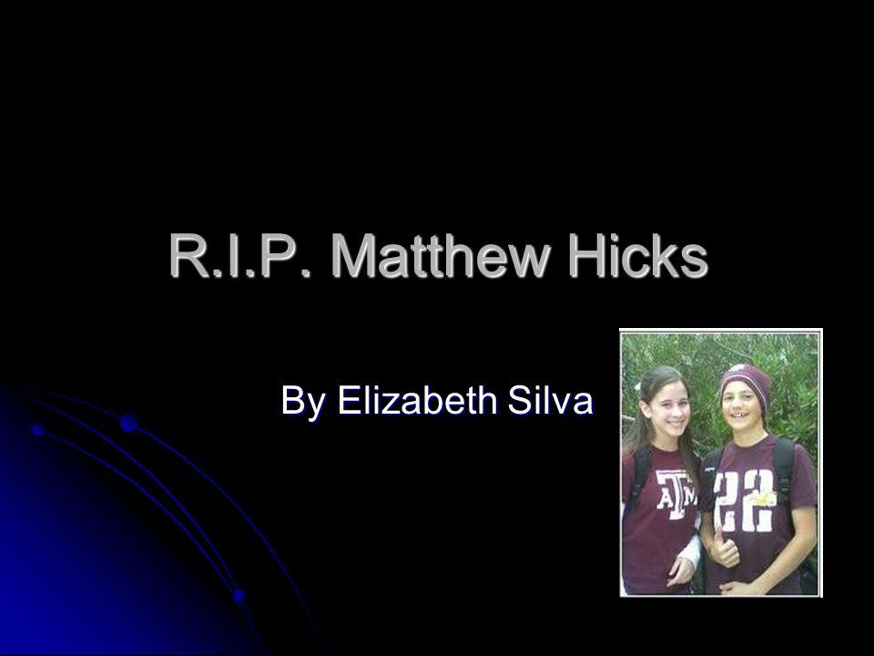 R.I.P. Matthew Hicks By Elizabeth Silva