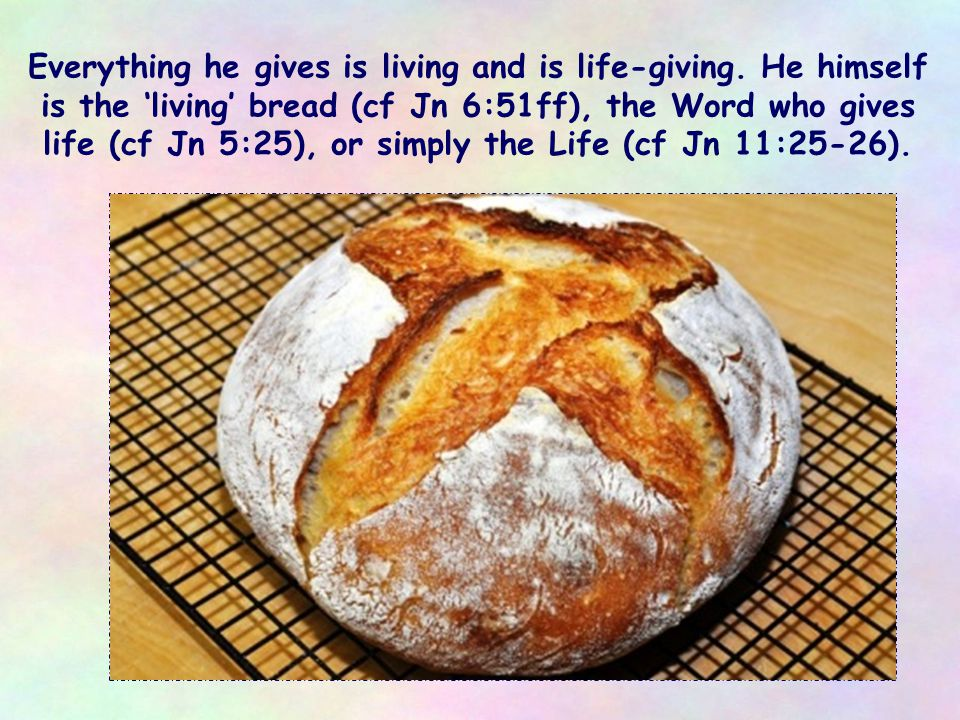 What Jesus wants to give is 'living' water, symbolizing the revelation of a God who is Father and who is love, the Holy Spirit, the divine life he came to bring.