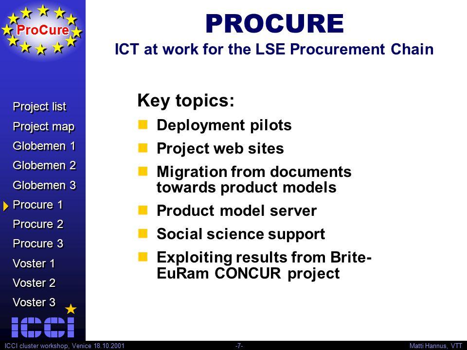 Project list Project map Globemen 1 Globemen 2 Globemen 3 Procure 1 Procure 2 Procure 3 Voster 1 Voster 2 Voster 3 Project list Project map Globemen 1