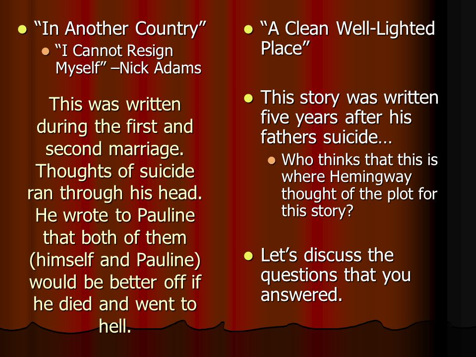 This was written during the first and second marriage. Thoughts of suicide ran through his head. He wrote to Pauline that both of them (himself and Pa