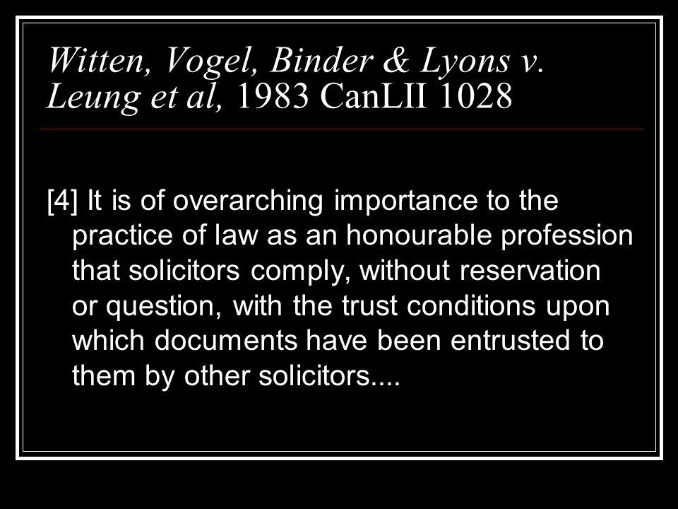Witten, Vogel, Binder & Lyons v.