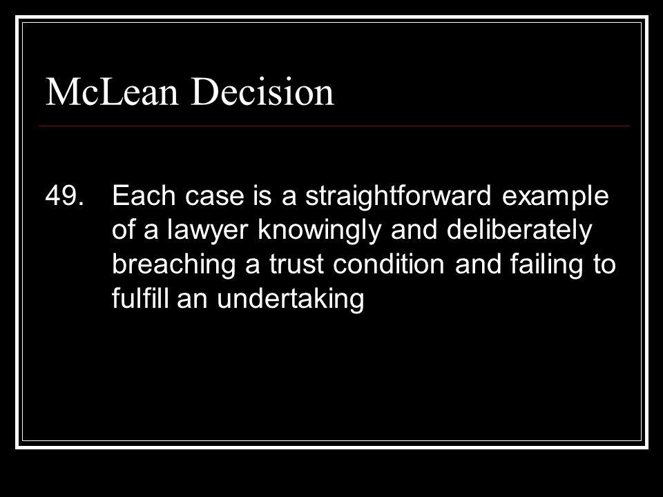 McLean Decision 49.