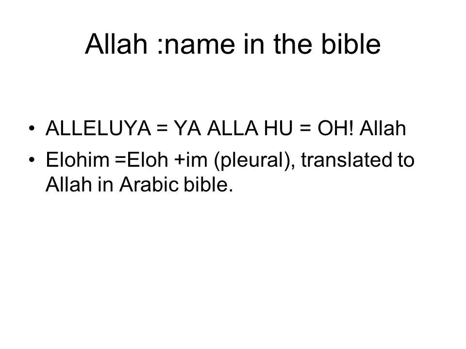Allah Arabs called Allah, the God of their father Ibrahim, the God of gods.