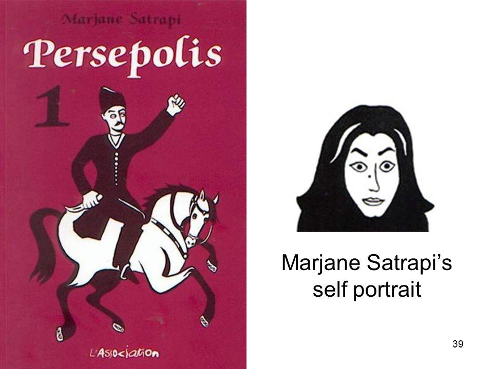39 Marjane Satrapi's self portrait