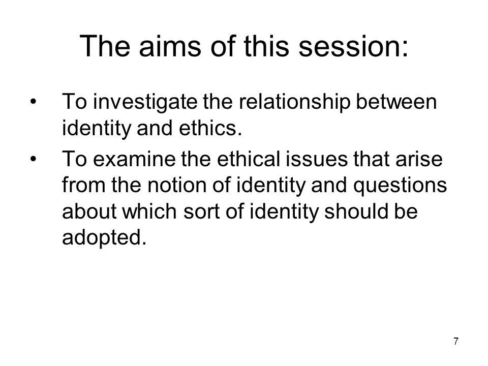 8 §II. Identity: What is it?