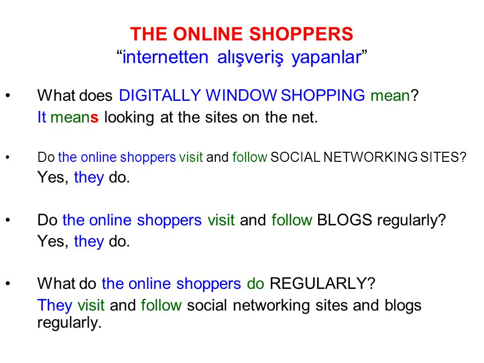 What does DIGITALLY WINDOW SHOPPING mean. It means looking at the sites on the net.
