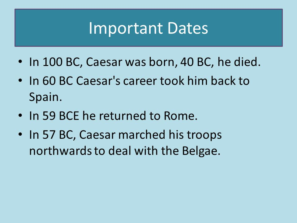 We think that Julius Caesar uses power.We think this because he had a lot of defeats to help Rome.