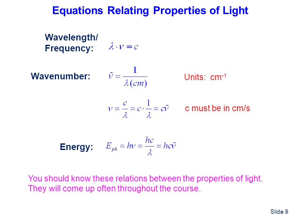 Slide 20 What is the de Broglie wavelength of an electron traveling at 0.1 c (c=speed of light).