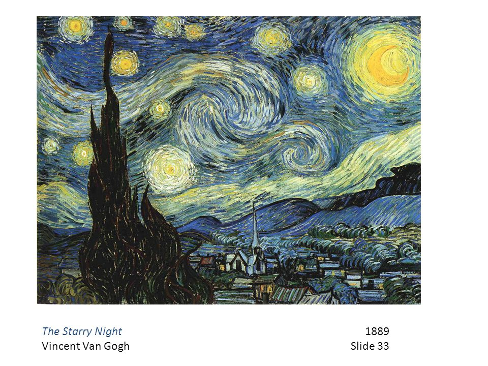 The Starry Night 1889 Vincent Van Gogh Slide 33