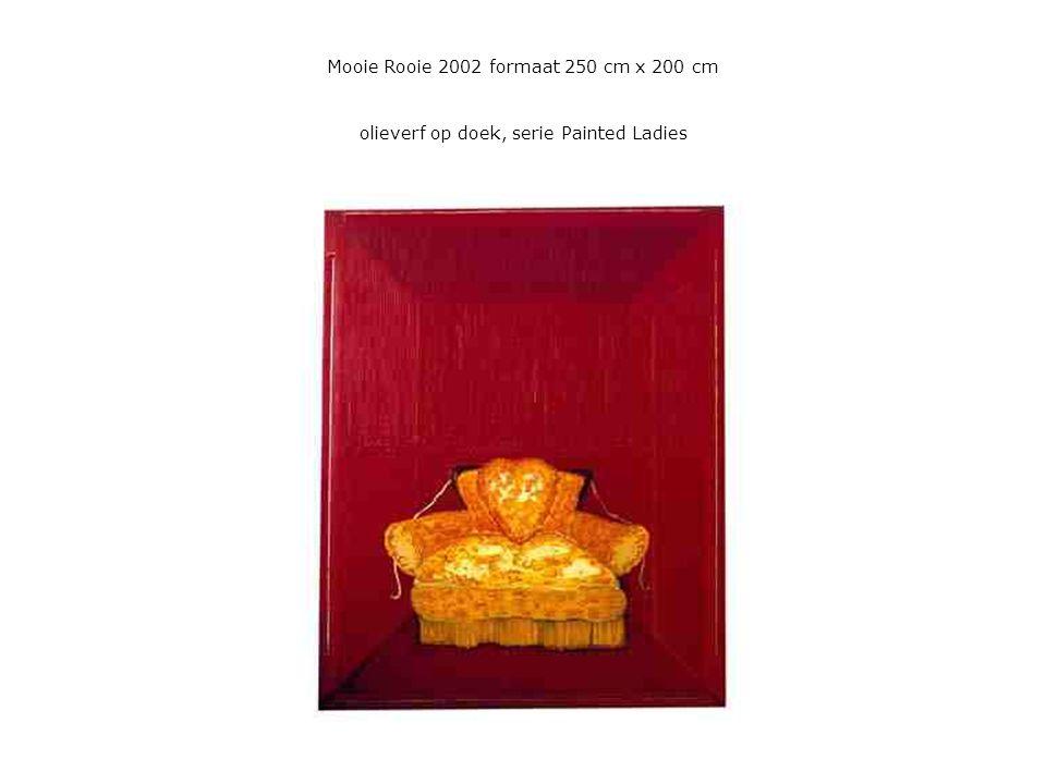 Mooie Rooie 2002 formaat 250 cm x 200 cm olieverf op doek, serie Painted Ladies
