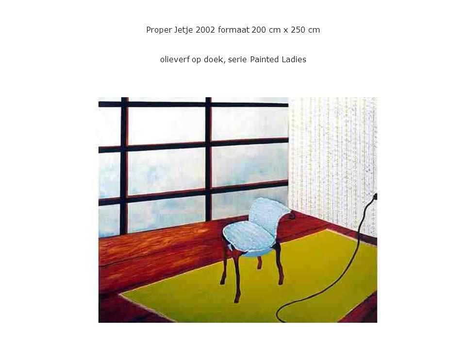 Proper Jetje 2002 formaat 200 cm x 250 cm olieverf op doek, serie Painted Ladies