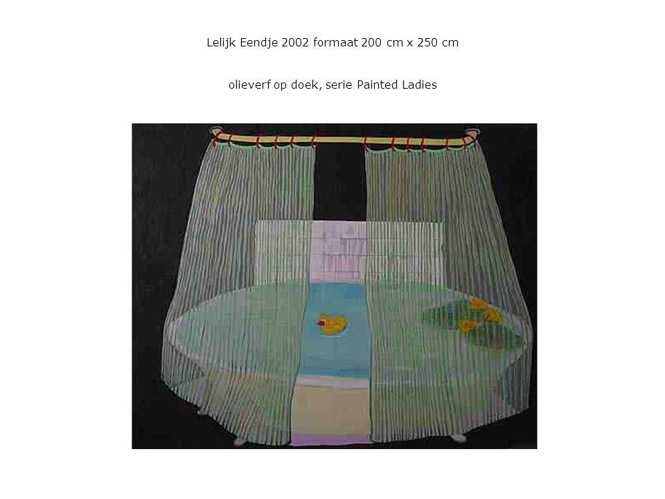 Lelijk Eendje 2002 formaat 200 cm x 250 cm olieverf op doek, serie Painted Ladies