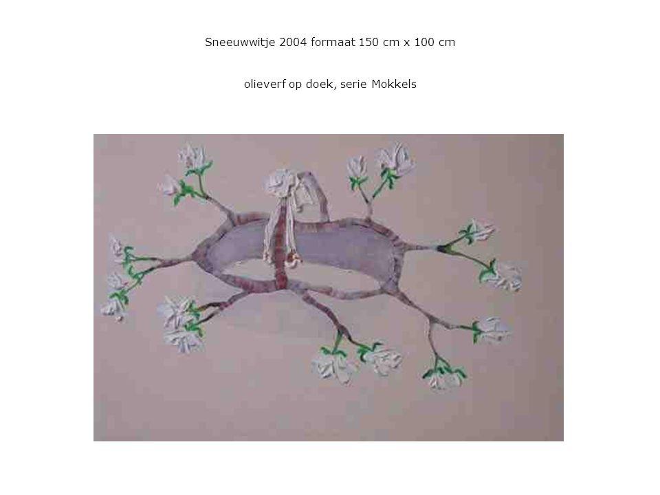 Sneeuwwitje 2004 formaat 150 cm x 100 cm olieverf op doek, serie Mokkels