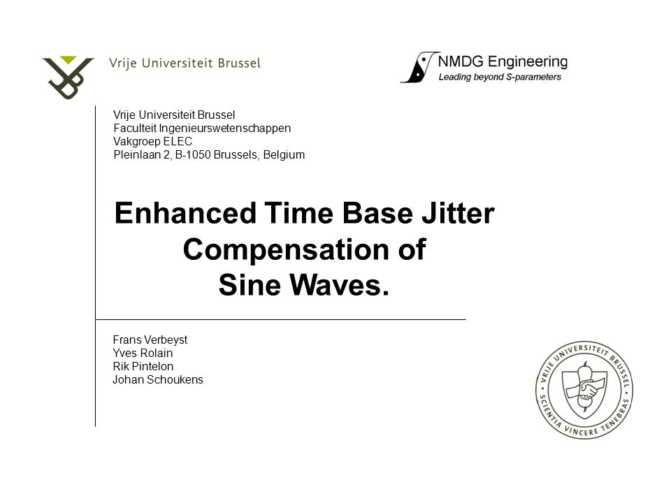 Enhanced Time Base Jitter Compensation of Sine Waves.