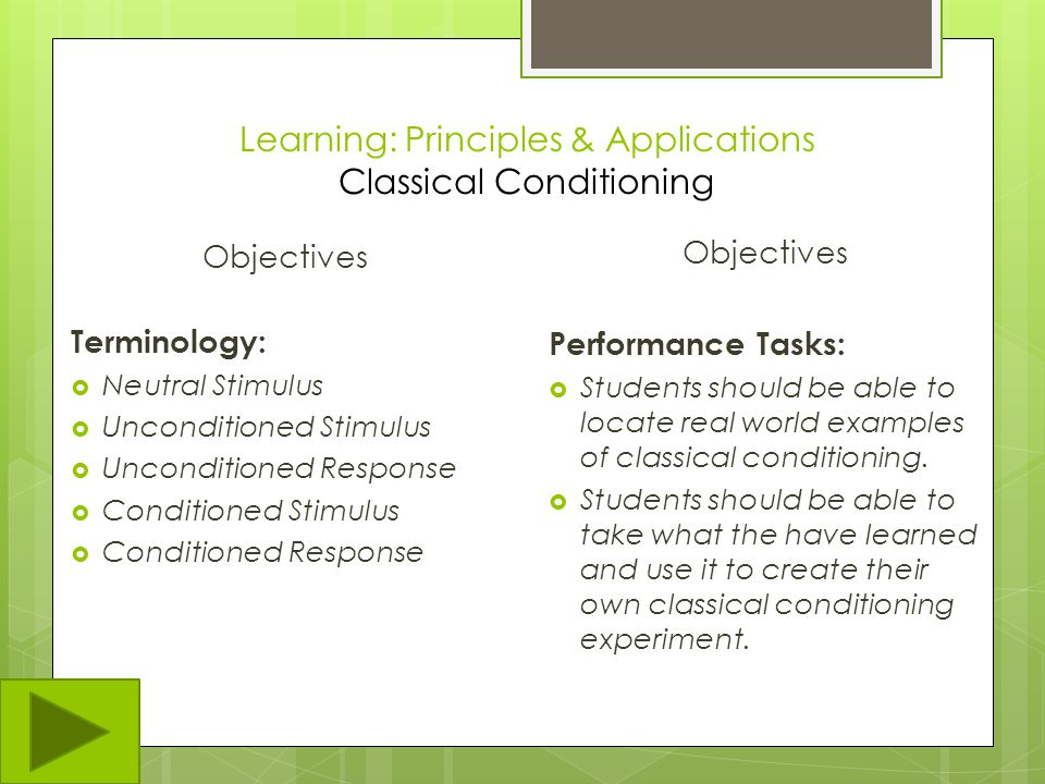 Learning: Classical & Operant Conditioning