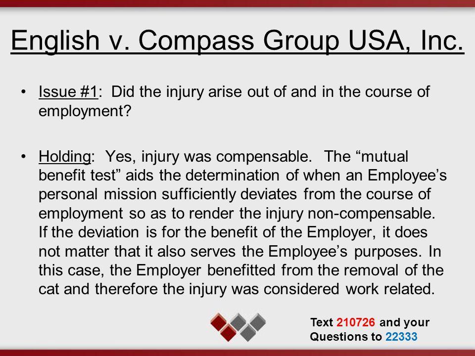English v.Compass Group USA, Inc.