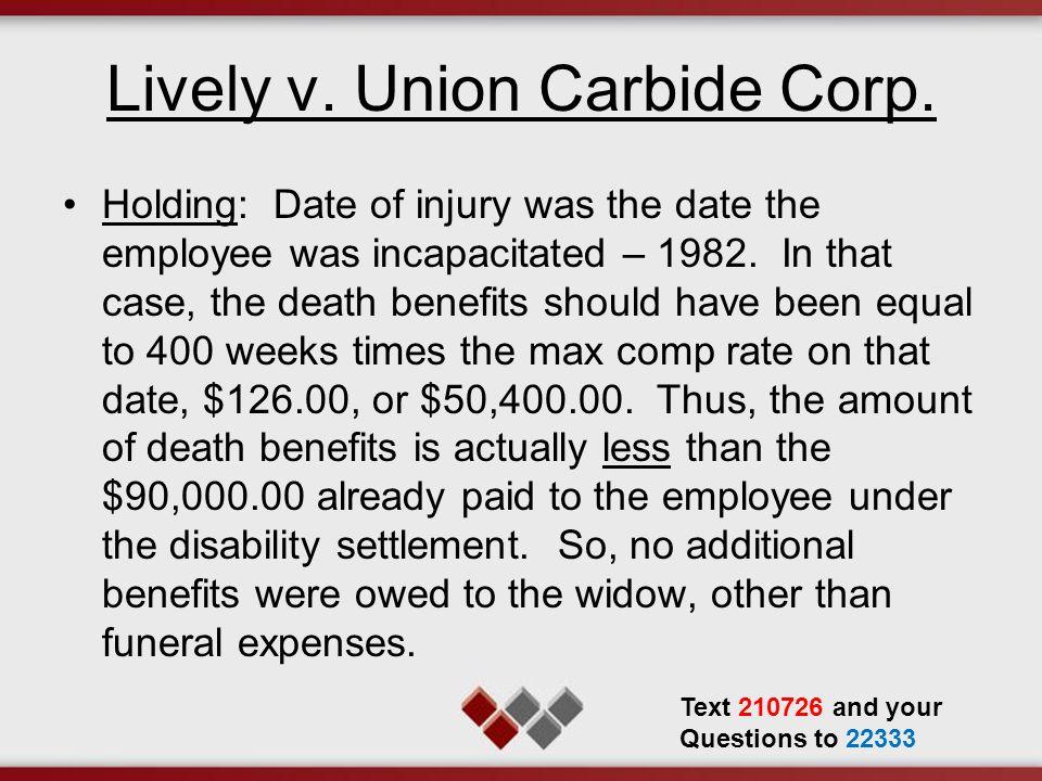 Lively v.Union Carbide Corp.