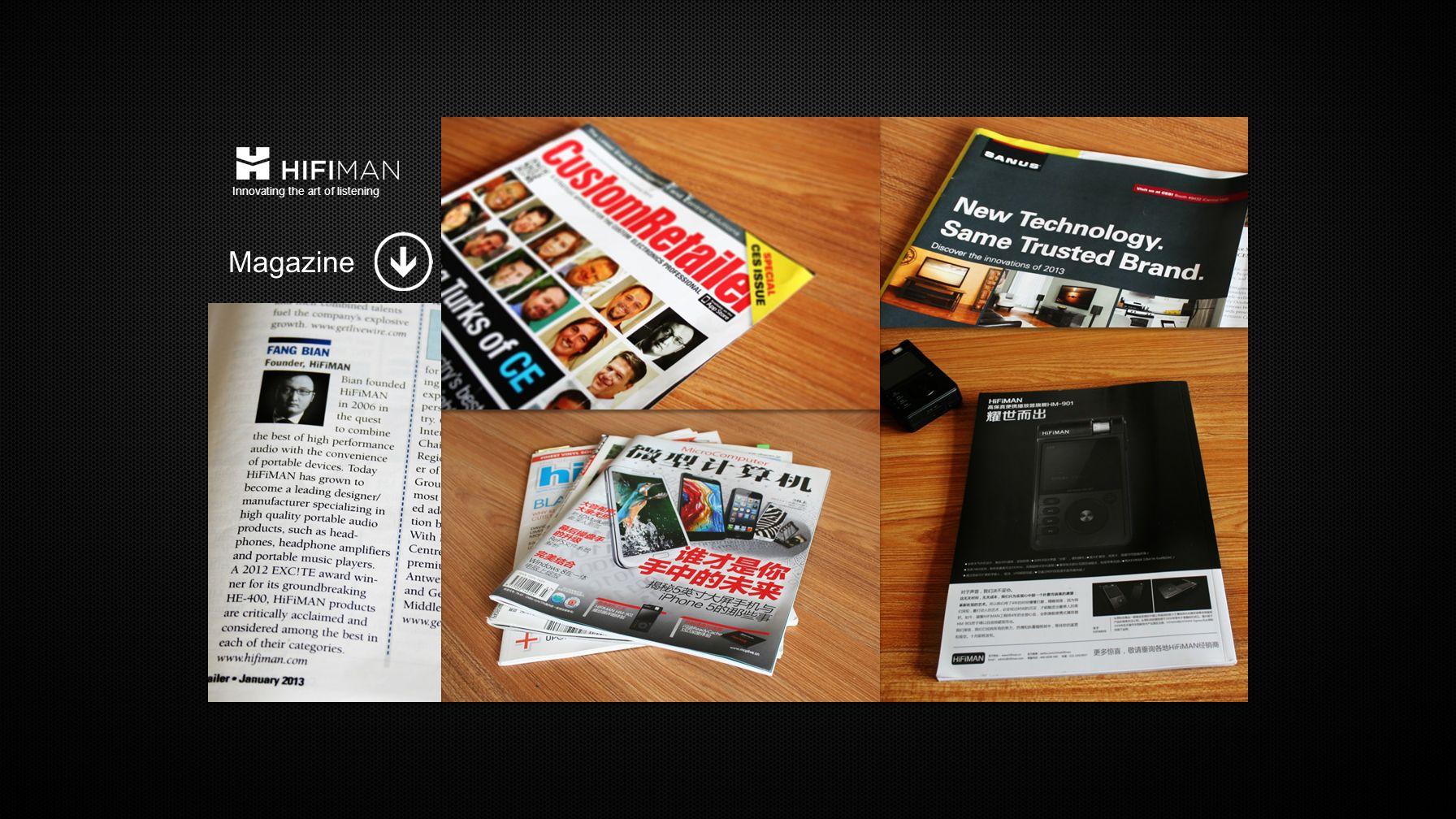 Magazine Innovating the art of listening