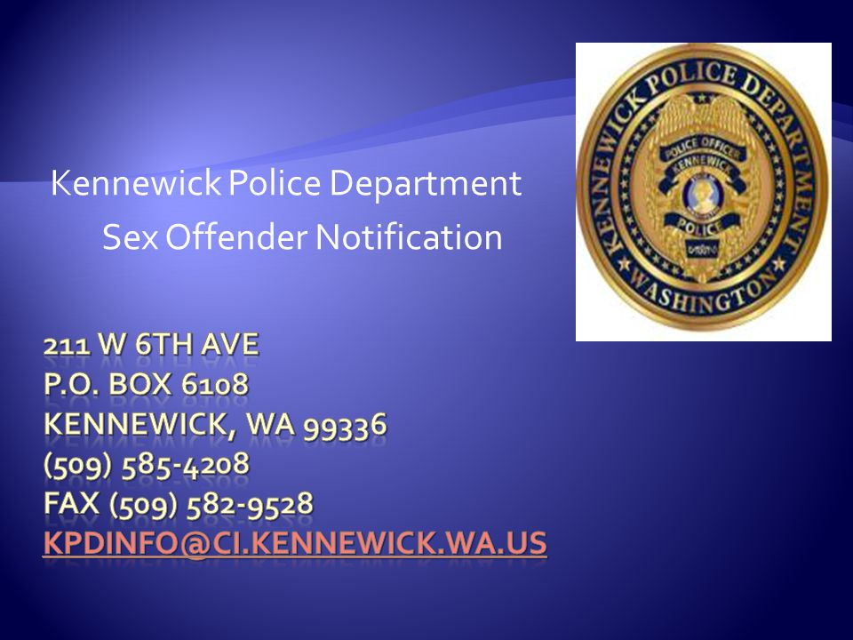 Kennewick Police Department Sex Offender Notification