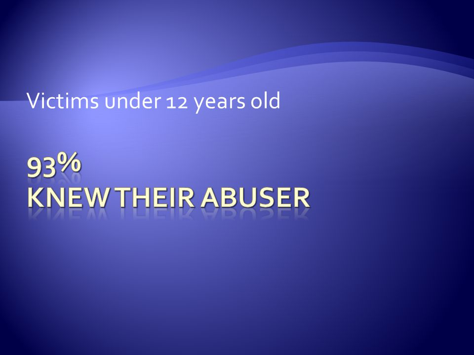 Victims under 12 years old