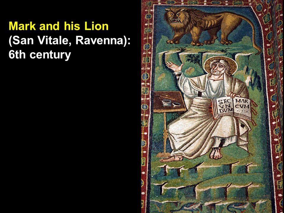 Mark and his Lion (San Vitale, Ravenna): 6th century
