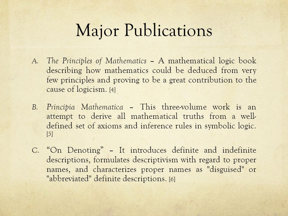Major Publications A.