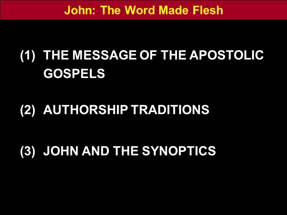 The Aged Apostle: A legend recorded by Jerome The blessed evangelist John remained in Ephesus until extreme old age, when he could scarcely be carried to church any more in his disciples' arms.