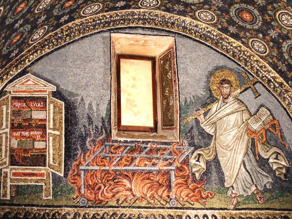 Garima Gospels, 1 (Ethiopia, 6th century): end of Gospel of Matthew , beginning of Gospel of Mark
