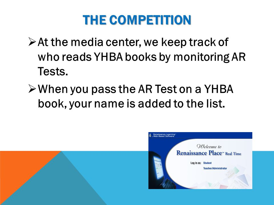 YHBA PROGRAM  Each year our students participate in the YHBA program.  Lists of YHBA titles are posted in the media center, in your English classroo