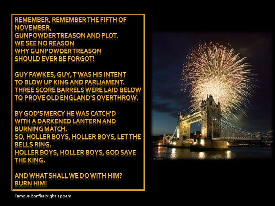Famous Bonfire Night's poem