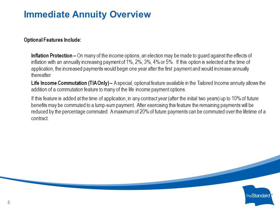 © 2010 Standard Insurance Company Income Options