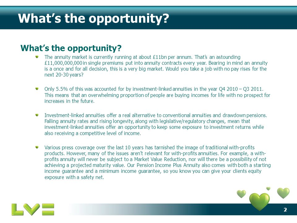 22 What's the opportunity? The annuity market is currently running at about £11bn per annum. That's an astounding £11,000,000,000 in single premiums p