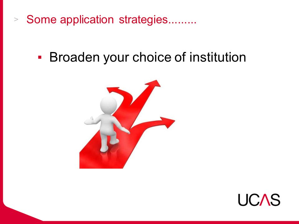 Some application strategies......... ▪Broaden your choice of institution