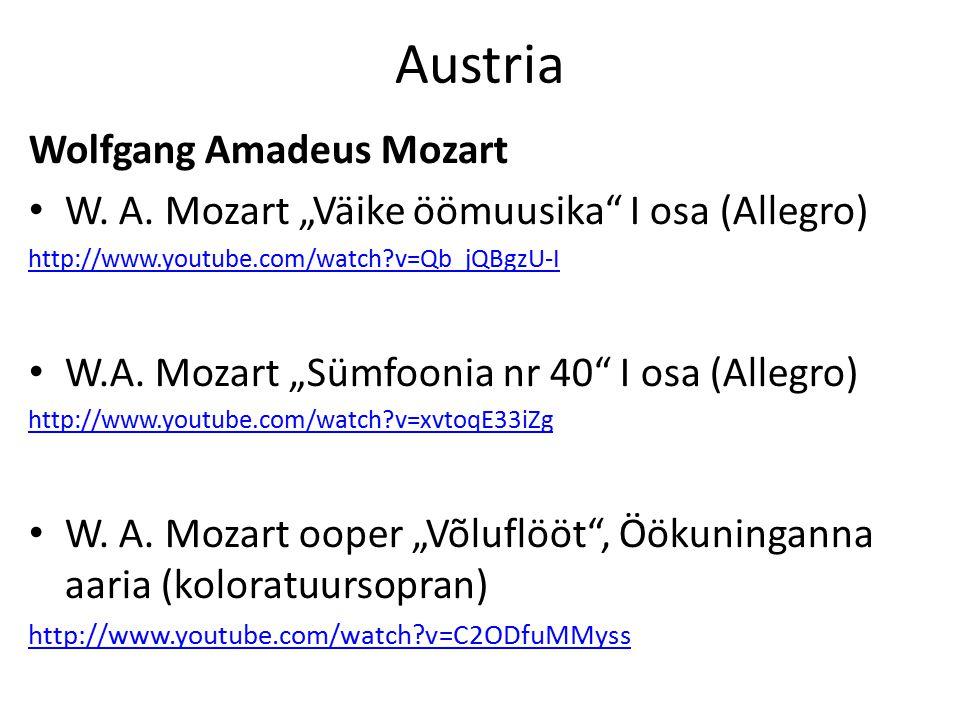 Austria Wolfgang Amadeus Mozart W. A.