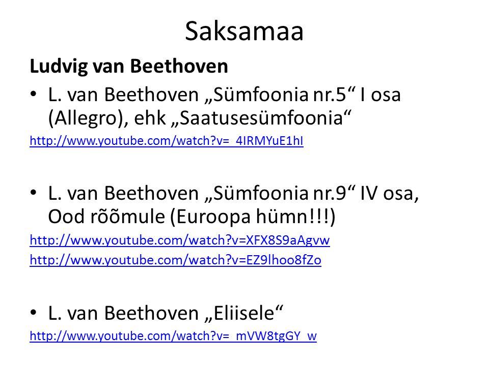 Saksamaa Johann Sebastian Bach J.S.