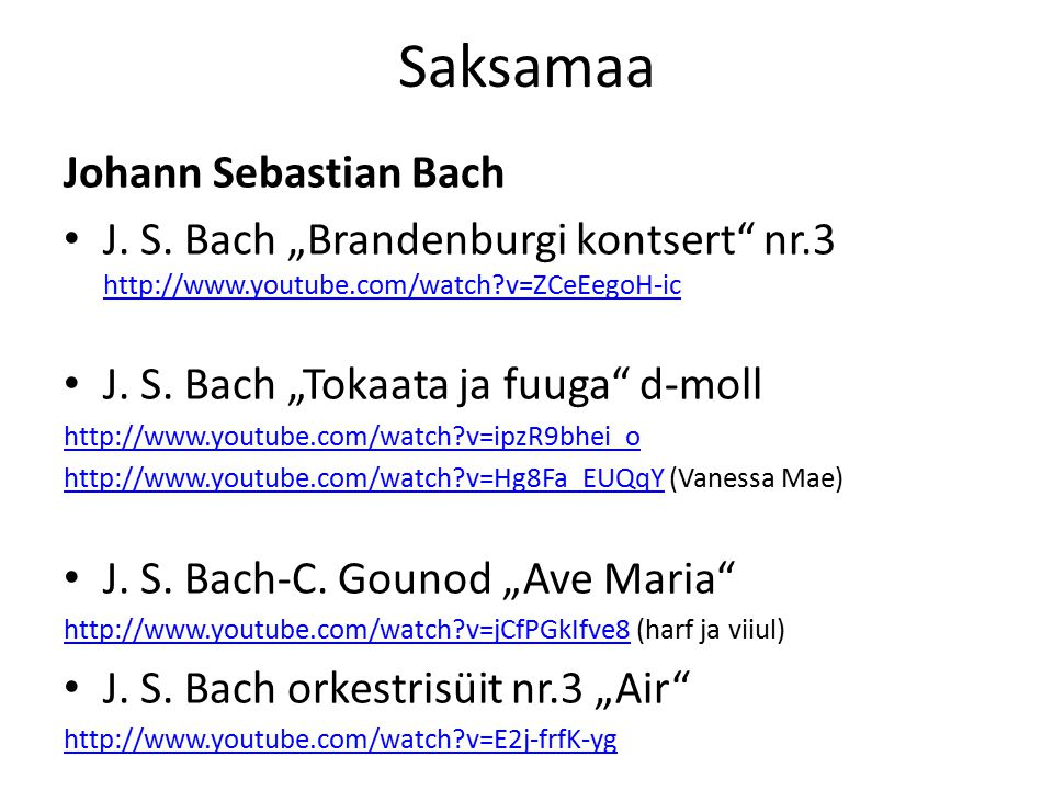 "Saksamaa Ansambel Rammstein ""America http://www.youtube.com/watch?v=hBgAQc-MnGM ------------------------------------------------------------------ Joodeldamine (laulmise viis Austrias, Saksamaal, Belgias)."