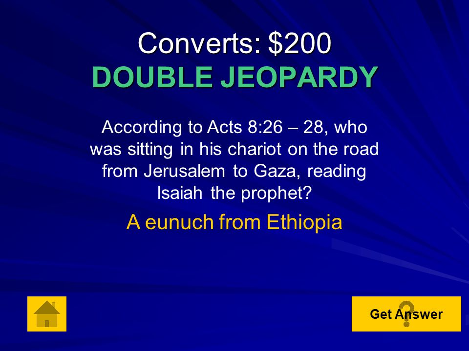 Converts: $100 According to Acts 8:18 – 19, who wanted to buy the power of the Holy Spirit from the apostles.